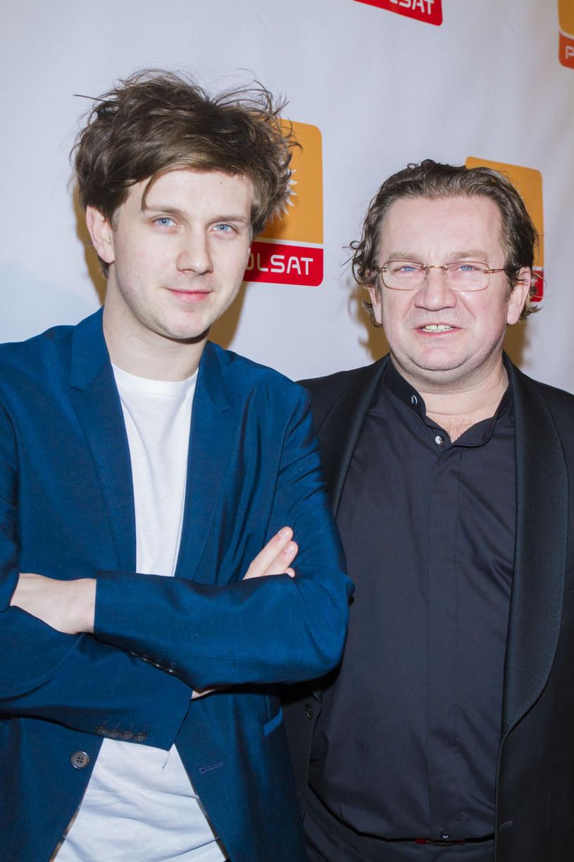 Paweł Królikowski z synem Antkiem /Marcin Szajnfeld/Press Photo Center /East News