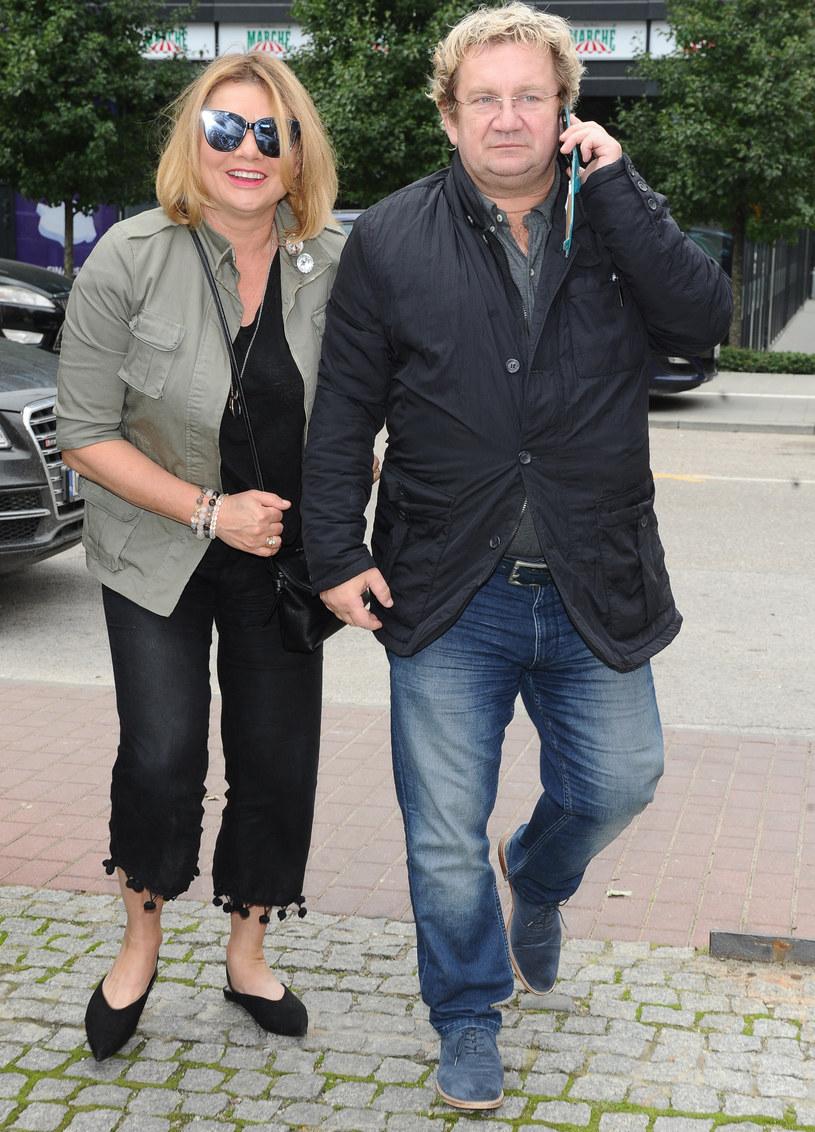 Paweł Królikowski z żoną /Piotr Andrzejczak /MWMedia