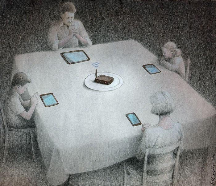 """Paweł Kuczyński, """"dinner"""" /web.facebook.com/pawelkuczynskiart/ /archiwum prywatne"""