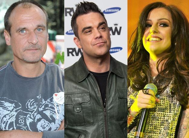 Paweł Kukiz (fot. MWMedia), Robbie Williams i Cher Lloyd zaliczyli w tym roku wpadki /Getty Images/Flash Press Media