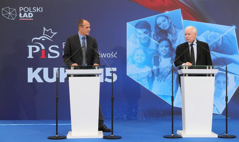 Paweł Kukiz i Jarosław Kaczyński /Piotr Molecki /East News