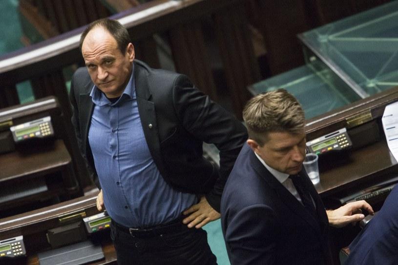 Paweł Kukiz i Ryszard Petru /Andrzej Hulimka/Reporter /East News