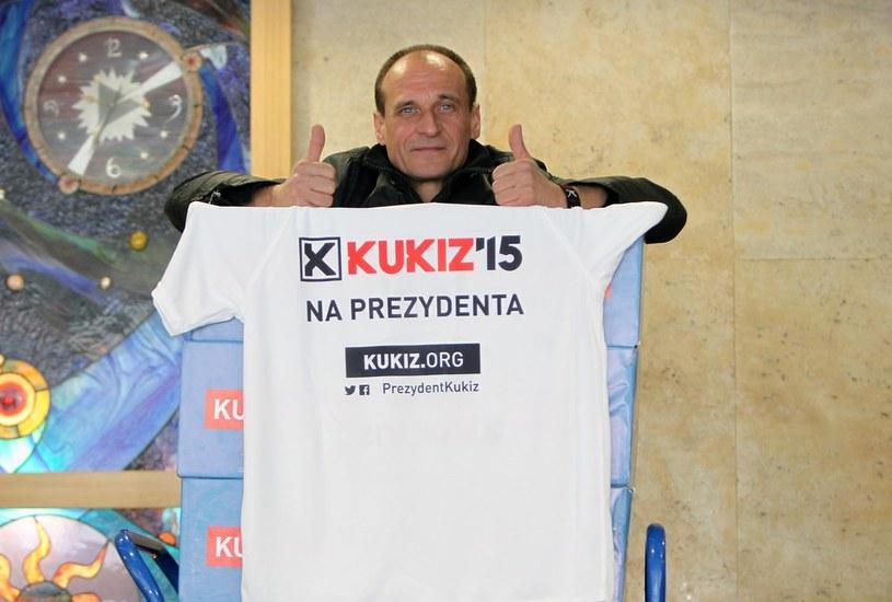 Paweł Kukiz - kandydat na prezydenta Polski /Stanisław Kowalczuk /East News