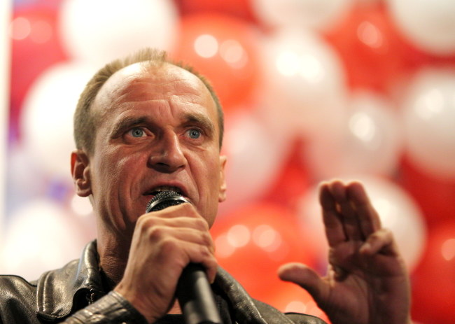 Paweł Kukiz, podczas Konwencji Wyborczej Województwa Śląskiego KWW Kukiz'15 w Katowicach /Andrzej Grygiel /PAP