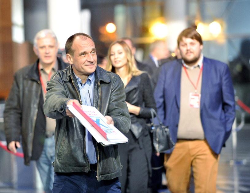 Paweł Kukiz przed debatą /Marcin Obara /PAP