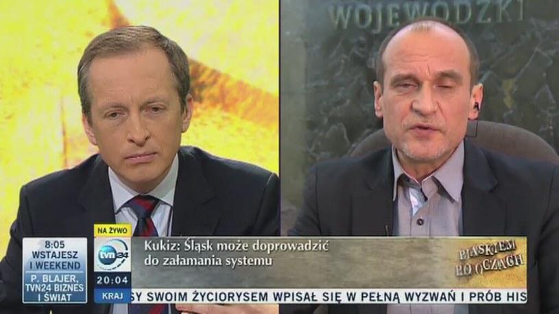 Paweł Kukiz uważa, że państwo polskie się sypie /TVN24/x-news