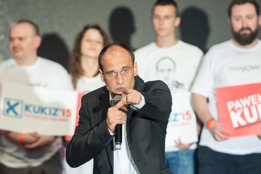 Paweł Kukiz uzyskał w wyborach prezydenckich ponad 20% głosów /Maciej Kulczyński /PAP
