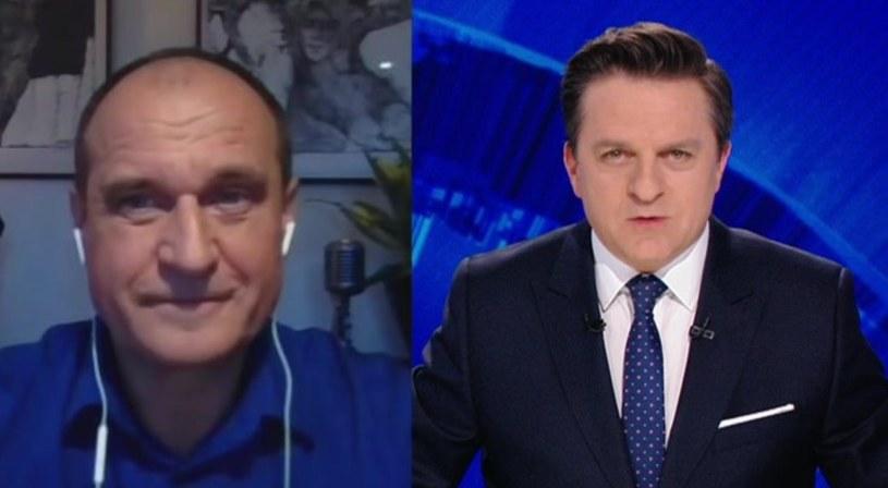 """Paweł Kukiz w programie """"Gość Wydarzeń""""  - screen. z programu /Polsat"""