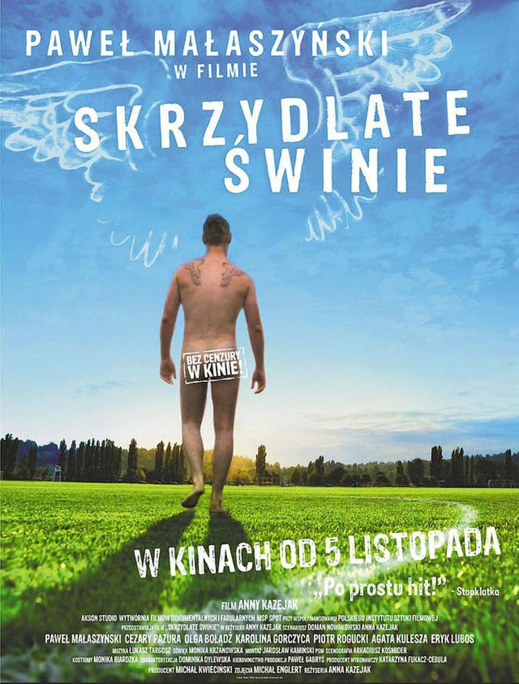 """Paweł Małaszyński na plakacie """"Skrzydlatych świń"""" /Akson Studio /materiały prasowe"""