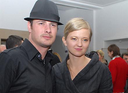 Paweł Małaszyński z żoną, fot. M.Ulatowski /MWMedia
