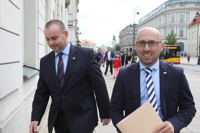 Paweł Mucha i Krzysztof Łapiński /Fot. Stanislaw Kowalczuk /East News