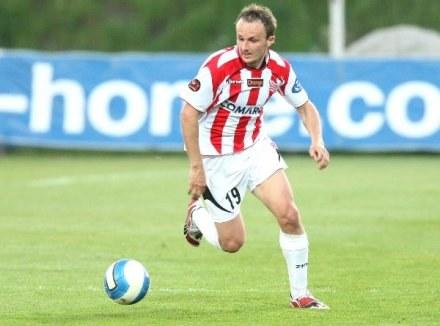 """Paweł Nowak - strzelec gola dla """"Pasów"""" /Agencja Przegląd Sportowy"""