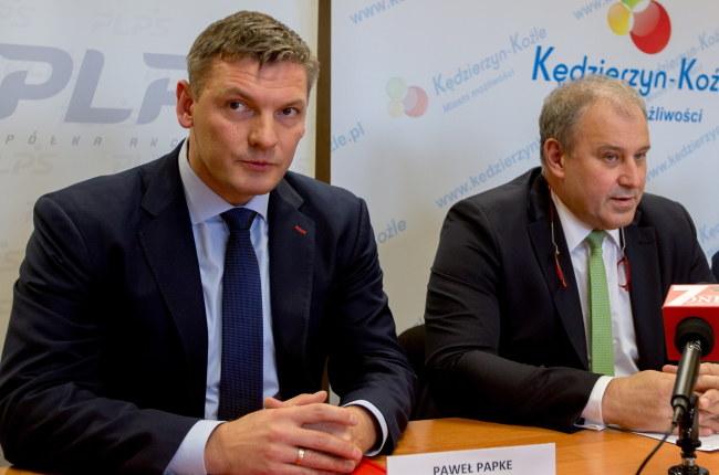 Paweł Papke (z lewej) i Jacek Kasprzyk /Andrzej Grygiel /PAP