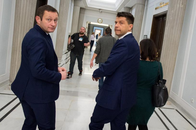 Paweł Rabiej i Ryszard Petru /Jacek Domiński /Reporter
