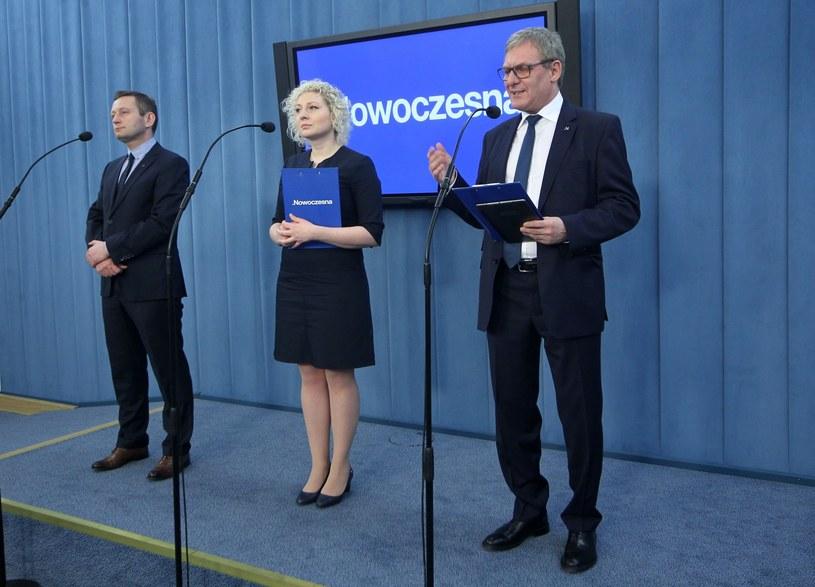 Paweł Rabiej, Marta Golbik, Grzegorz Furgo /Stanisław Kowalczuk /East News