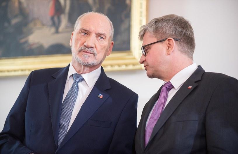 Paweł Soloch i Antoni Macierewicz /Bartosz Krupa /East News