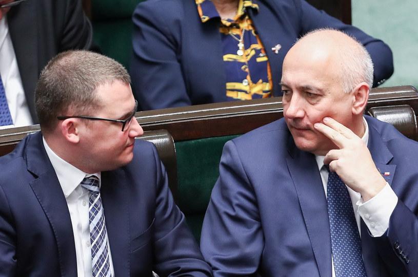 Paweł Szefernaker i Joachim Brudziński /Andrzej Iwańczuk /Reporter