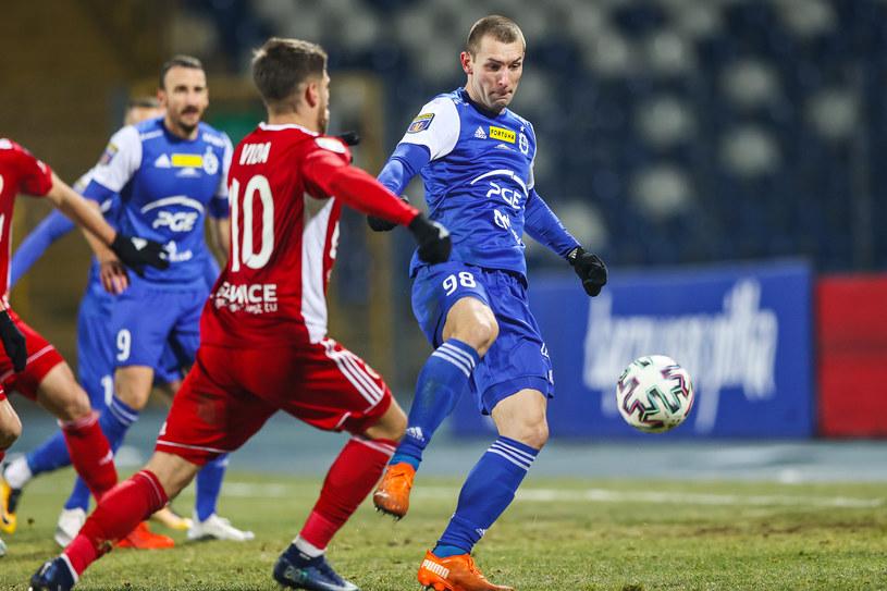 Paweł Tomczyk w meczu Stali Mielec z Piastem Gliwice w Pucharze Polski /Łukasz Grochala /Newspix