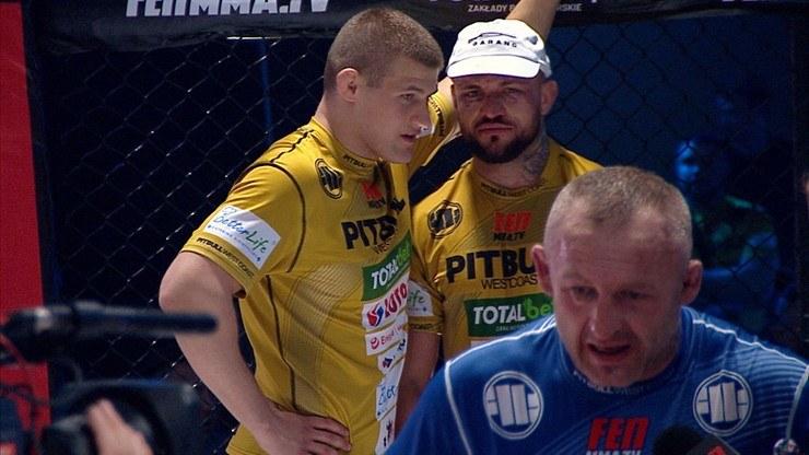 """Paweł """"Trybson"""" Trybała przegrał na gali FEN 34 z Łukaszem Borowskim /Polsat Sport"""