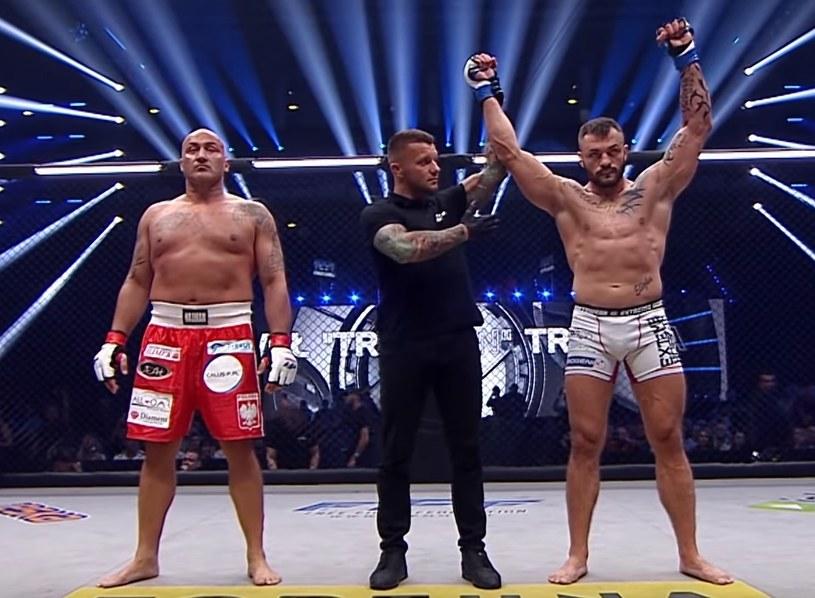 """Paweł """"Trybson"""" Trybała (z prawej) i Marcin Najman /INTERIA.PL"""