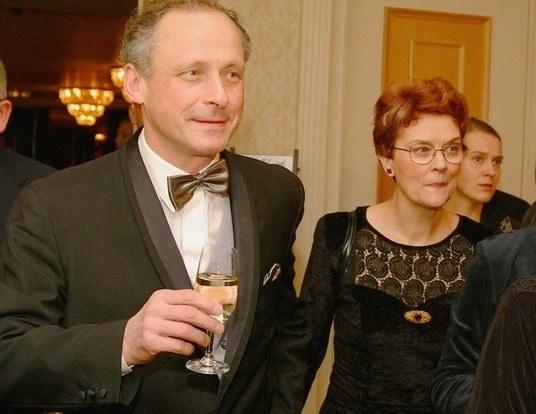 Paweł Wawrzecki i śp. Barbara Winiarska /AKPA