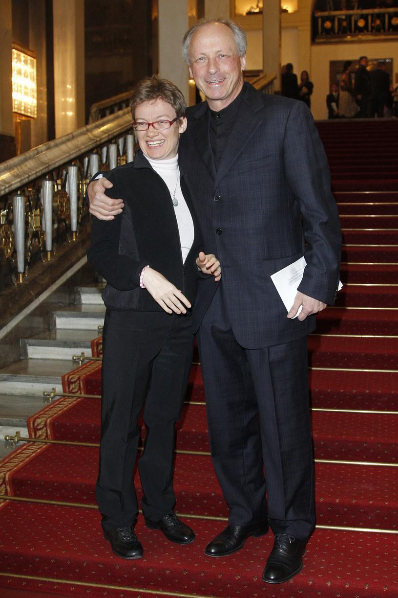 Paweł Wawrzecki z córką Anną, 2011 r. /Engelbrecht /AKPA