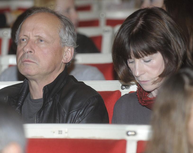 Paweł Wawrzecki z żoną /- /East News