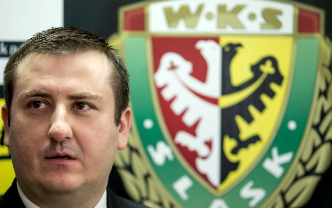 Paweł Żelem, prezes Śląska Wrocław /Maciej Kulczyński /PAP