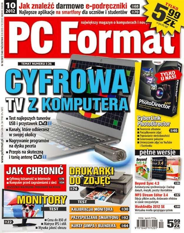 """""""PC Format 10/2012"""" - w kioskach od 3 września /PC Format"""
