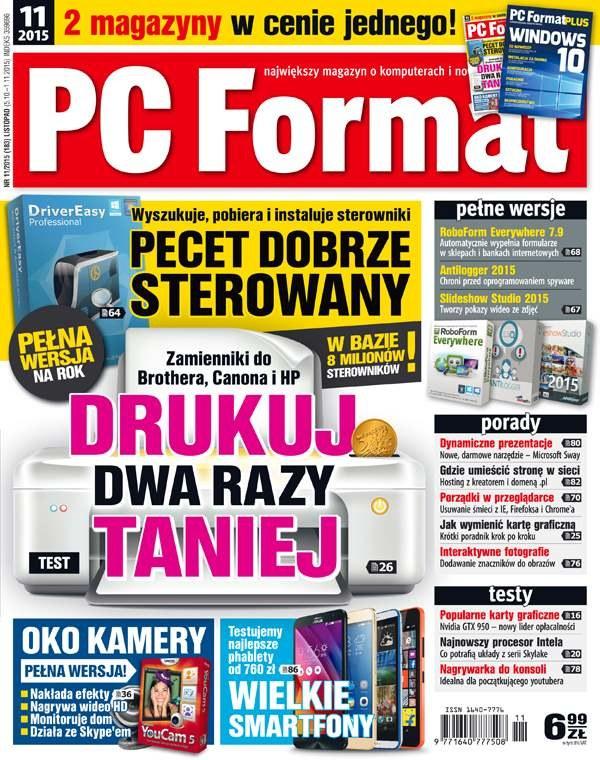 PC Format 11/2015  - w sprzedaży od 5 października /PC Format