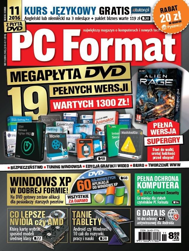 PC Format 11/2016 - w kioskach od 3 października /PC Format