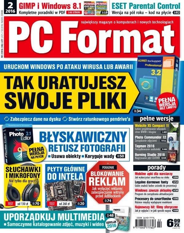 PC Format 2/2016 - w kioskach od 4 stycznia /PC Format