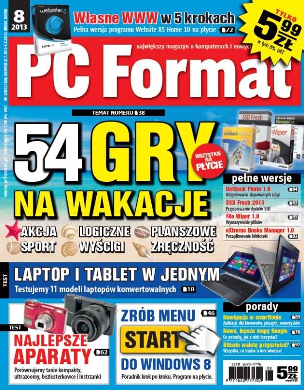 PC Format 8/2013 - nowy numer w kioskach od 8 lipca /materiały prasowe