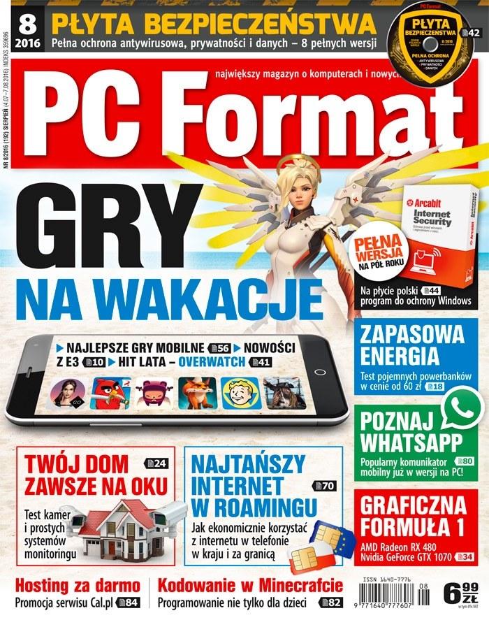 PC Format 8/2016 w kioskach od 4 lipca /materiały prasowe