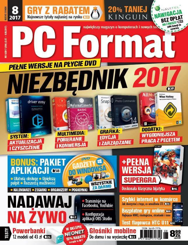 PC Format 8/2017 - w kioskach od 3 lipca /PC Format