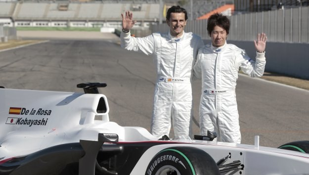 Pedro de la Rosa i Kamui Kobayashi /AFP