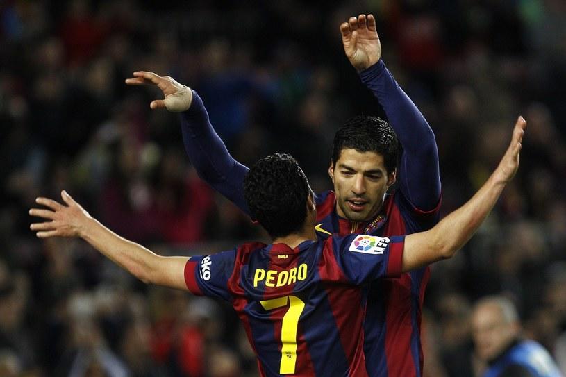 Pedro i Luis Suarez. /AFP