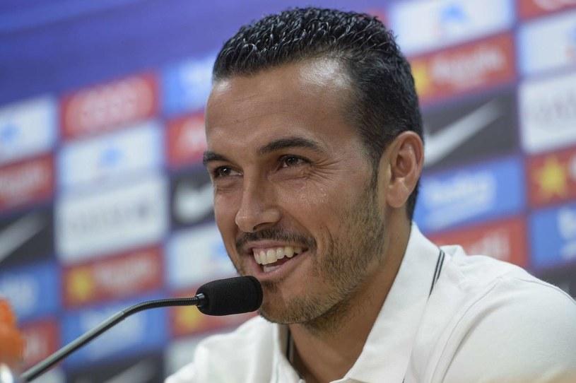 Pedro Rodriguez na pożegnalnej konferencji prasowej na Camp Nou /AFP