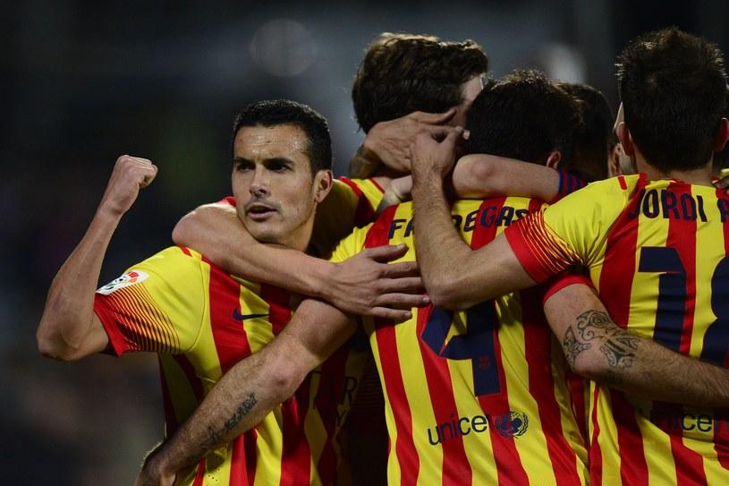 Pedro Rodriguez (pierwszy z lewej) jest najlepszym strzelcem ligi. /AFP