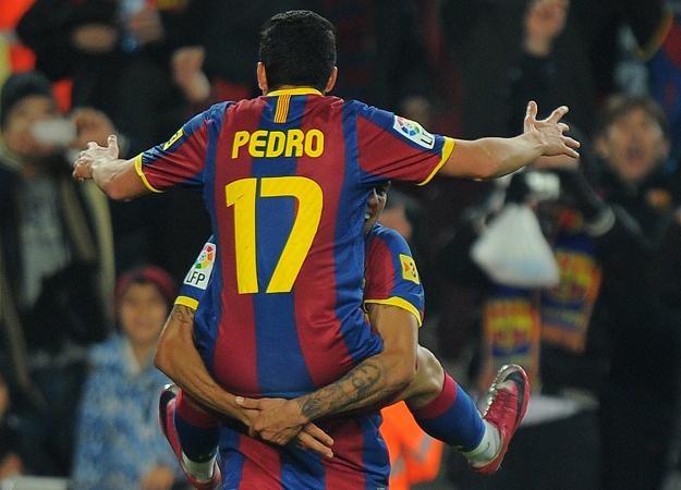 Pedro Rodriguez zdobył dwa gole dla Barcelony w meczu z Levante /AFP