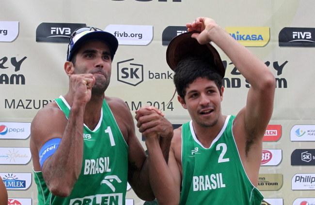 Pedro Salgado (z lewej) i Alvaro Filho /Tomasz Waszczuk /PAP