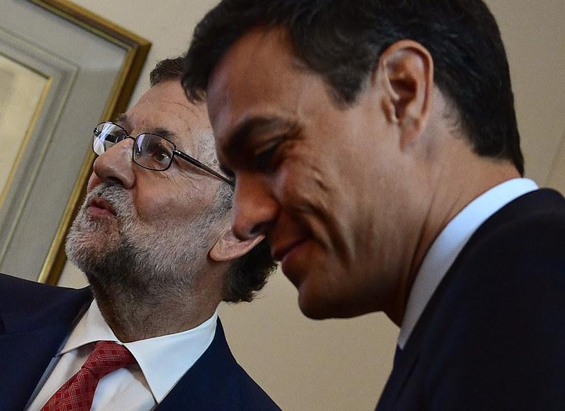 Pedro Sanchez i Mariano Rajoy /AFP