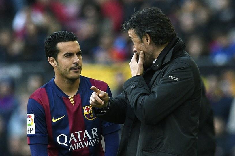 Pedro (z lewej) i Luis Enrique /AFP