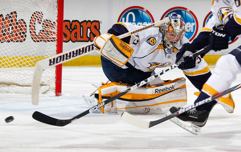 Pekka Rinne, jeden z najlepszych hokejowych bramkarzy /AFP