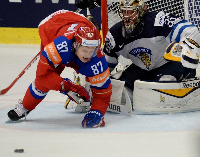 Pekka Rinne w fińskiej bramce /AFP