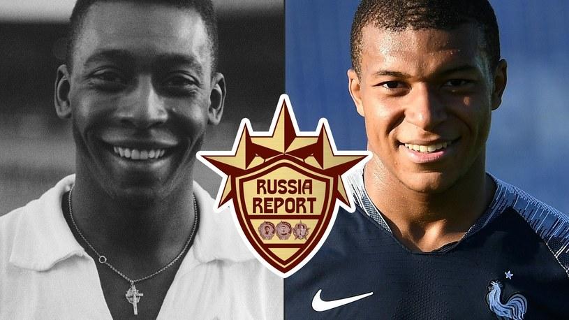 Pele i Kylian Mbappe /Eurosport