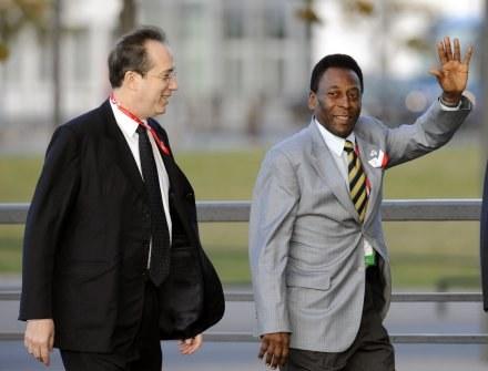Pele przyjechał do Kopenhagi po igrzyska dla Rio de Janeiro /AFP