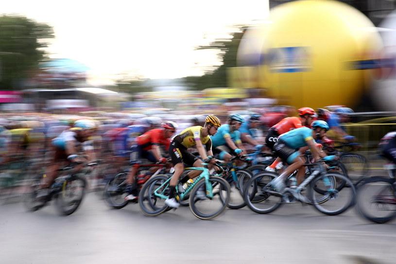 Peleton podczas 1. etapu 76. Tour de Pologne UCI World Tour //Łukasz Gągulski /PAP