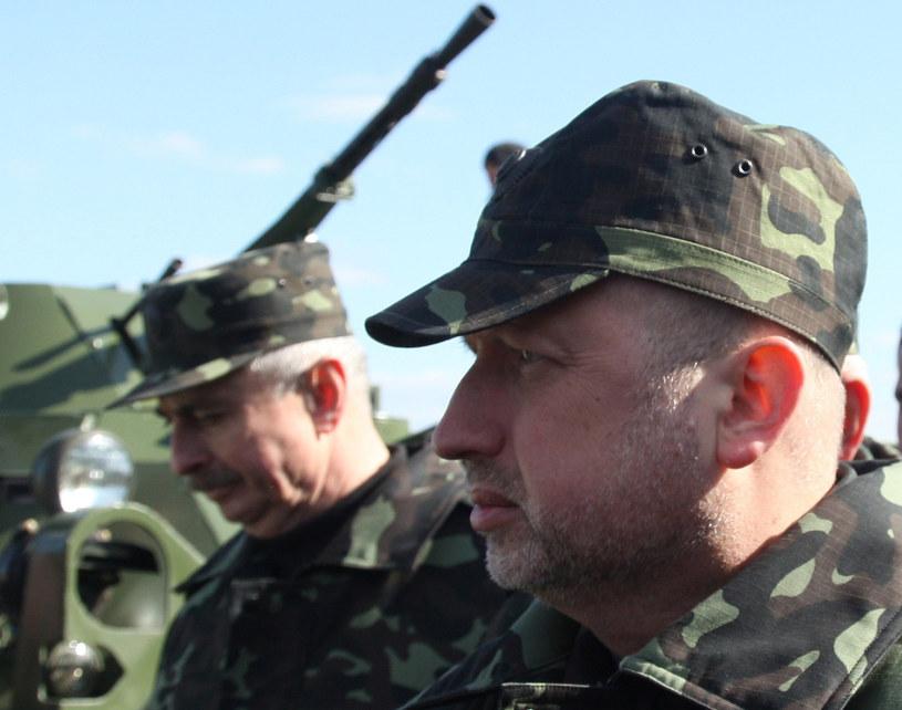 Pełniący obowiązki prezydenta Ukrainy Ołeksandr Turczynow /AFP