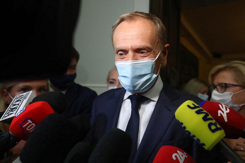 Pełniący obowiązki przewodniczącego Platformy Obywatelskiej Donald Tusk /Tomasz Gzell /PAP